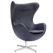 Fine Mod Imports Inner Chair Leather, Black (FMI1131-black)