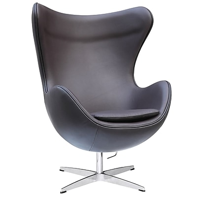 Fine Mod Imports Inner Chair Leather, Brown (FMI1131-dkbrown)