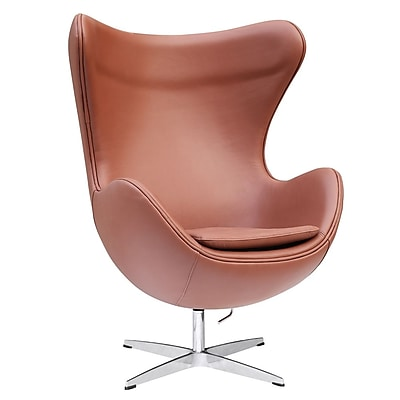 Fine Mod Imports Inner Chair Leather, Light Brown (FMI1131-ltbrown)