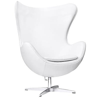 Fine Mod Imports Inner Chair Leather, White (FMI1131-white)