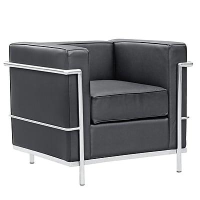 Fine Mod Imports Cube Lc2 Petit Chair, Black (FMI1156-black)