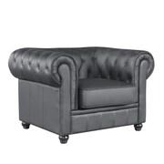 Fine Mod Imports Chestfield Chair, Black (FMI2198-black)