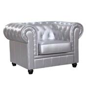 Fine Mod Imports Chestfield Chair, Silver (FMI2198-silver)