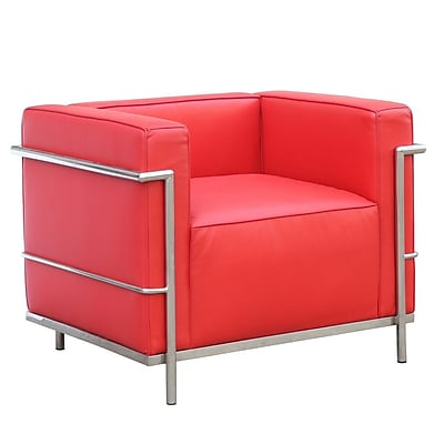 Fine Mod Imports Grand Lc3 Chair, Red (FMI2202-red)
