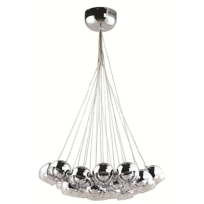 Fine Mod Imports Cup Hanging Chandelier, Silver (FMI8011-silver)