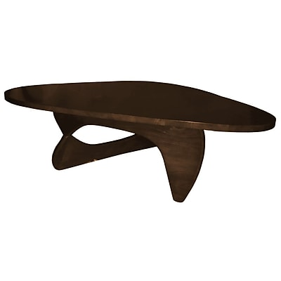 Fine Mod Imports Rare Coffee Table, Dark Walnut (FMI10040-dark walnut)