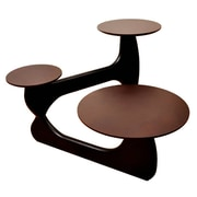 Fine Mod Imports 3 Tiered Coffee Table, Dark Walnut (FMI10154-dark walnut)