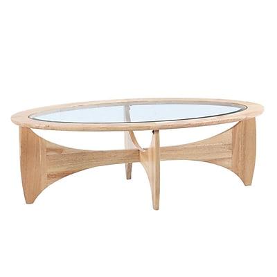 Fine Mod Imports Opec Coffee Table, Natural (FMI10243-natural)