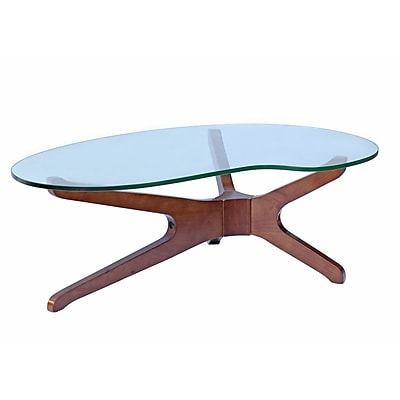 Fine Mod Imports Sculpt Coffee Table, Walnut (FMI8009-walnut)