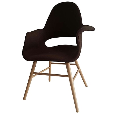 Fine Mod Imports Eero Dining Chair, Brown (FMI10033-brown)