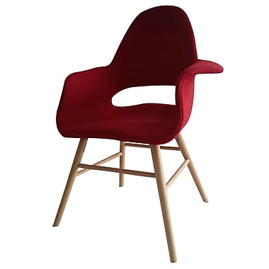 Fine Mod Imports Eero Dining Chair, Red (FMI10033-red)