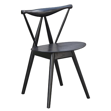 Fine Mod Imports Fronter Dining Chair, Black (FMI10034-black)