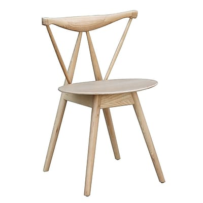 Fine Mod Imports Fronter Dining Chair, Natural (FMI10034-natural)