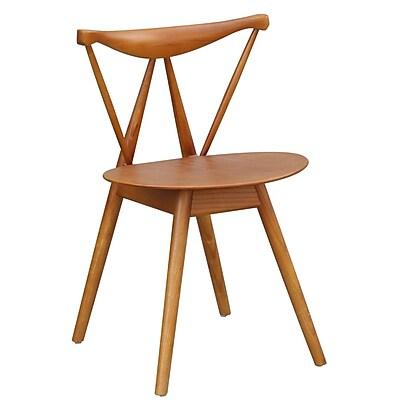 Fine Mod Imports Fronter Dining Chair, Walnut (FMI10034-walnut)