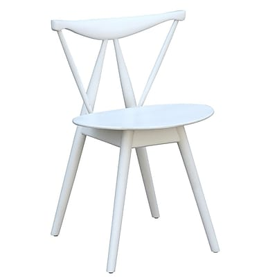 Fine Mod Imports Fronter Dining Chair, White (FMI10034-white)