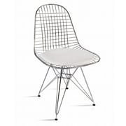 Fine Mod Imports Eiffel Dining Chair, White (FMI10036-white)