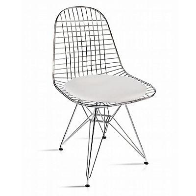 Fine Mod Imports Eiffel Dining Chair, White (FMI10036-white)