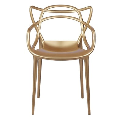 Fine Mod Imports Brand Name Dining Chair, Gold (FMI10067-gold)
