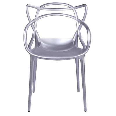 Fine Mod Imports Brand Name Dining Chair, Silver (FMI10067-silver)