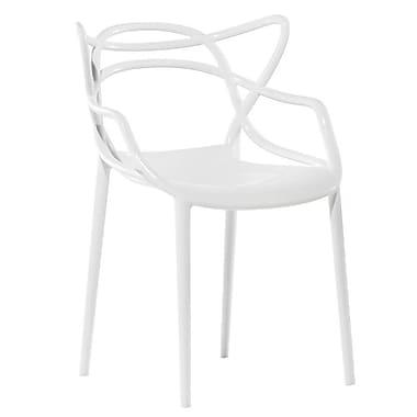 Fine Mod Imports Brand Name Dining Chair, White (FMI10067-white)