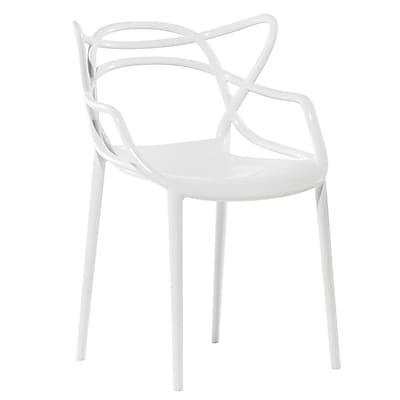 Fine Mod Imports Brand Name Dining Chair, White (FMI10067-white)