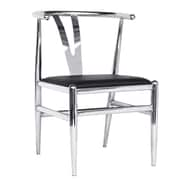Fine Mod Imports Wishsteel Dining Chair, Black (FMI10084-black)
