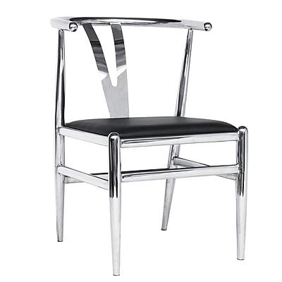 Fine Mod Imports Wishsteel Dining Chair, Black (FMI10084-black)