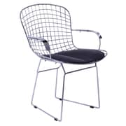Fine Mod Imports Wire Arm Chair, Black (FMI10089-black)