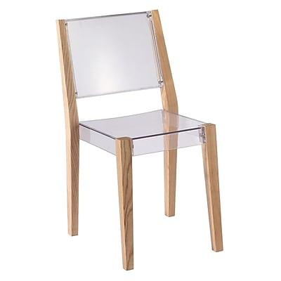 Fine Mod Imports Lhosta Dining Side Chair, Natural (FMI10094-natural)