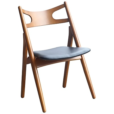 Fine Mod Imports Oksana Chair, Walnut (FMI10100-walnut)
