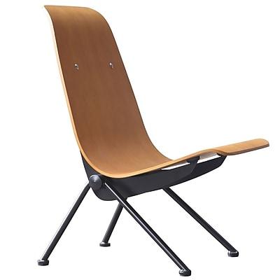 Fine Mod Imports Scolta Dining Side Chair, Walnut (FMI10103-walnut)