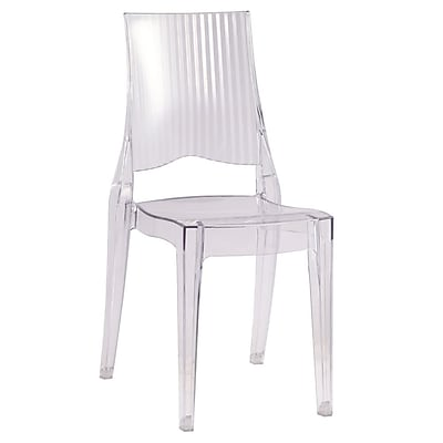 Fine Mod Imports Tolta Dining Side Chair, Clear (FMI10104-clear)