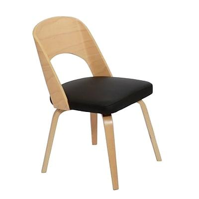 Fine Mod Imports Bendino Dining Chair, Black (FMI10169-black)