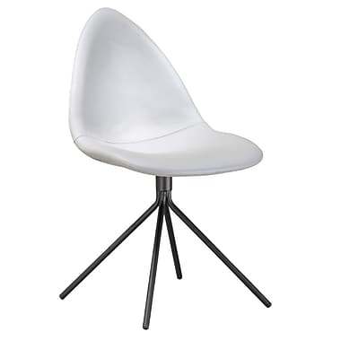 Fine Mod Imports Tripod Dining Chair, White (FMI10194-white)