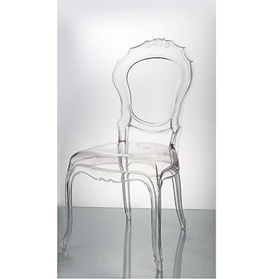 Fine Mod Imports Traditional Dining Chair, Clear (FMI10201-clear)
