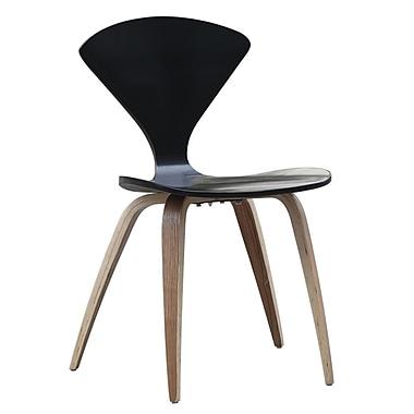 Fine Mod Imports Wooden Side Chair, Black (FMI10202-black)