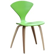 Fine Mod Imports Wooden Side Chair, Green (FMI10202-green)