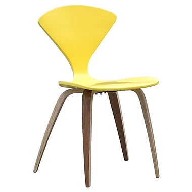 Fine Mod Imports Wooden Side Chair, Yellow (FMI10202-yellow)