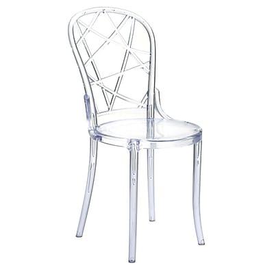 Fine Mod Imports Spiral Clear Chair, Clear (FMI10238-clear)
