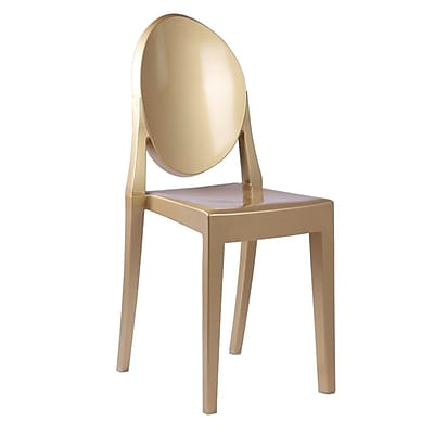 Fine Mod Imports Clear Side Chair, Gold (FMI1127-gold)