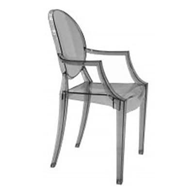 Fine Mod Imports Clear Arm Chair, Smoke (FMI1130-smoke)