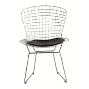 Fine Mod Imports Wire Side Chair, Black (FMI1143-black)