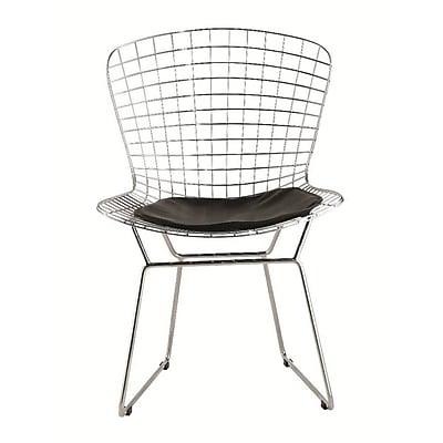 Fine Mod Imports Wire Side Chair, Black (FMI1143-black)