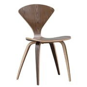 Fine Mod Imports Wooden Side Chair, Walnut (FMI1206-walnut)