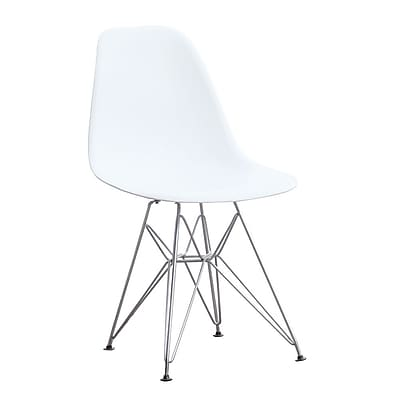 Fine Mod Imports WireLeg Dining Side Chair, White (FMI2011-white)