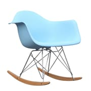 Fine Mod Imports Rocker Arm Chair, Light Blue (FMI2013-lightblue)