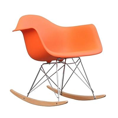 Fine Mod Imports Rocker Arm Chair, Orange (FMI2013-orange)
