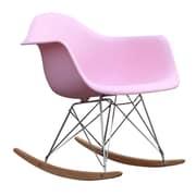 Fine Mod Imports Rocker Arm Chair, Pink (FMI2013-pink)