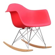 Fine Mod Imports Rocker Arm Chair, Red (FMI2013-red)