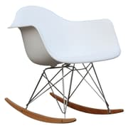 Fine Mod Imports Rocker Arm Chair, White (FMI2013-white)